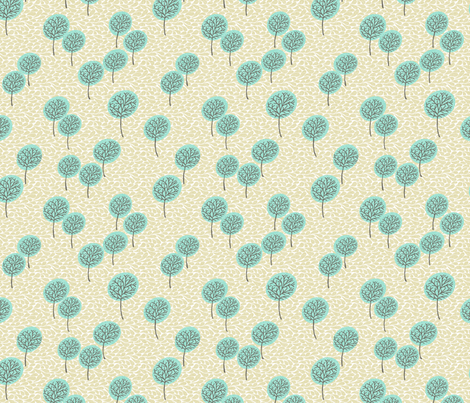 tree_breeze_teal_yellow fabric by glorydaze on Spoonflower - custom fabric