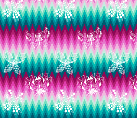 Verity's Ombre Butterflies fabric by veritymaddox on Spoonflower - custom fabric