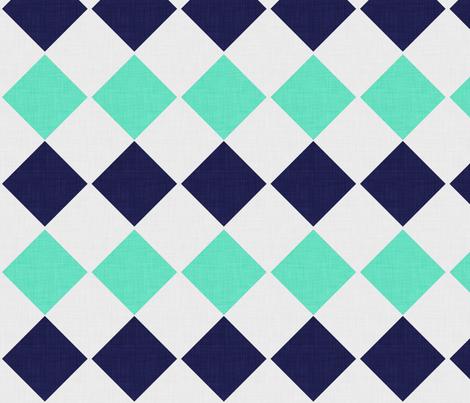 diamond_linen_mint fabric by holli_zollinger on Spoonflower - custom fabric