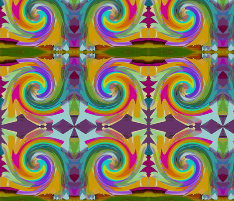 modern eastern style fabric beautiful colours fabric by mandybeau on Spoonflower - custom fabric