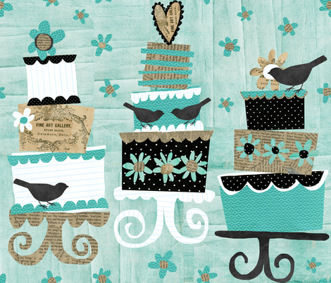 Paper-Cakes, Paper-Cakes, Baker's Man fabric by bethany@bzbdesigner_com on Spoonflower - custom fabric