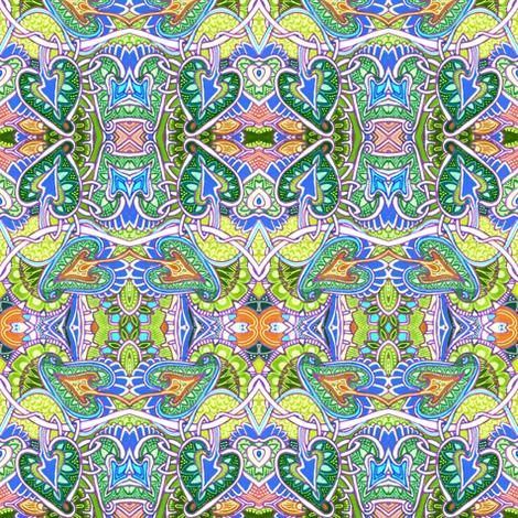 Heidi 39 s garden wallpaper edsel2084 spoonflower for 50ft garden design