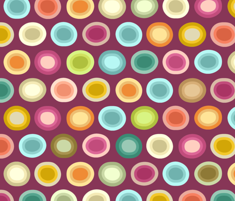 polka plummy fabric by scrummy on Spoonflower - custom fabric