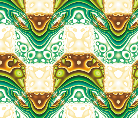 Fractal Mirror 3 fabric by animotaxis on Spoonflower - custom fabric