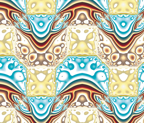 Fractal Mirror 4 fabric by animotaxis on Spoonflower - custom fabric