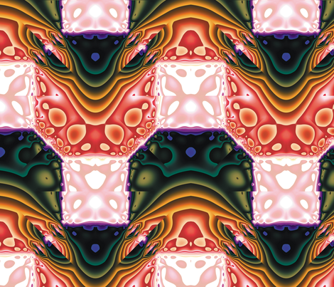 Fractal Mirror 5 fabric by animotaxis on Spoonflower - custom fabric