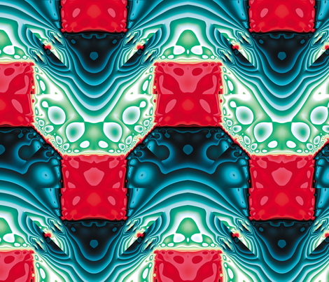 Fractal Mirror 8 fabric by animotaxis on Spoonflower - custom fabric