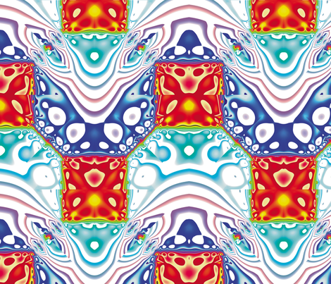 Fractal Mirror 9 fabric by animotaxis on Spoonflower - custom fabric