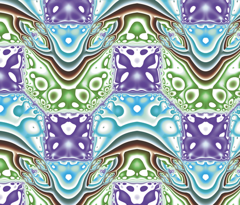 Fractal Mirror 10 fabric by animotaxis on Spoonflower - custom fabric