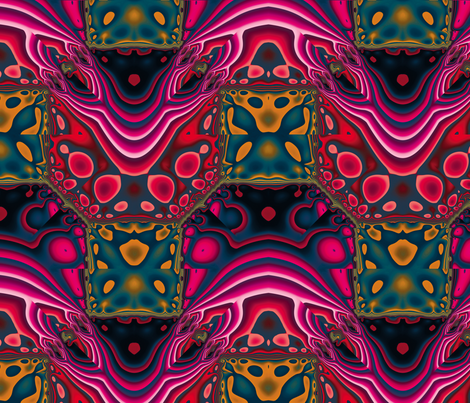 Fractal Mirror 15 fabric by animotaxis on Spoonflower - custom fabric