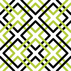 Modern Weave in Green and Black