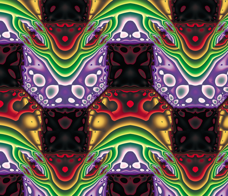 Fractal Mirror 17 fabric by animotaxis on Spoonflower - custom fabric