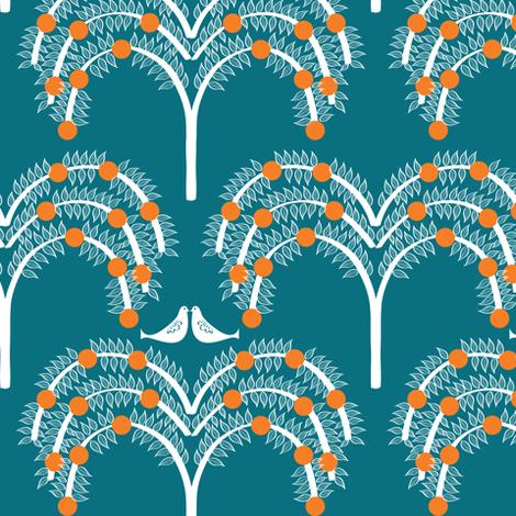 Orange Grove 2 fabric by sary on Spoonflower - custom fabric