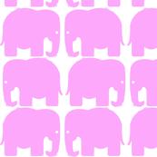 Pink Elephants Silhouette