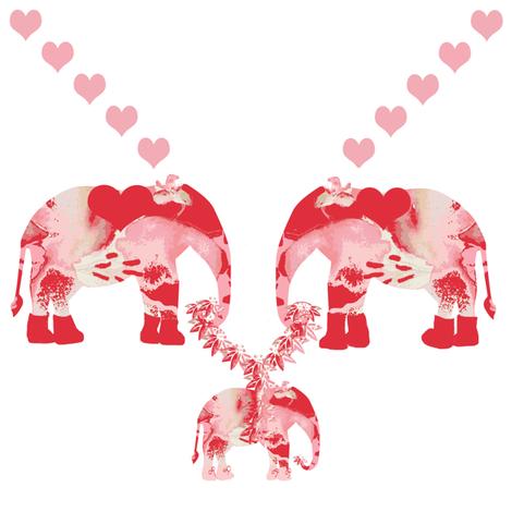 Lily Elephant's Baby fabric by karenharveycox on Spoonflower - custom fabric