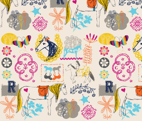 Ramonas_Horses fabric by nicky_ovitt on Spoonflower - custom fabric