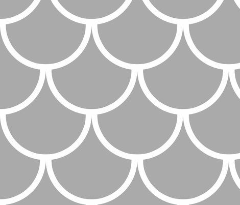 grey scallop fabric by pandalaimon on Spoonflower - custom fabric