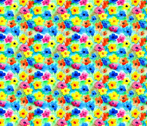 Watercolor_flowers_copy fabric by trishadstudio on Spoonflower - custom fabric