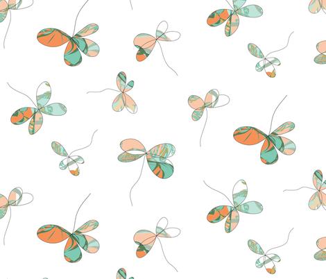Flutterby Four Leaf Clover fabric by jocelyn_friis on Spoonflower - custom fabric