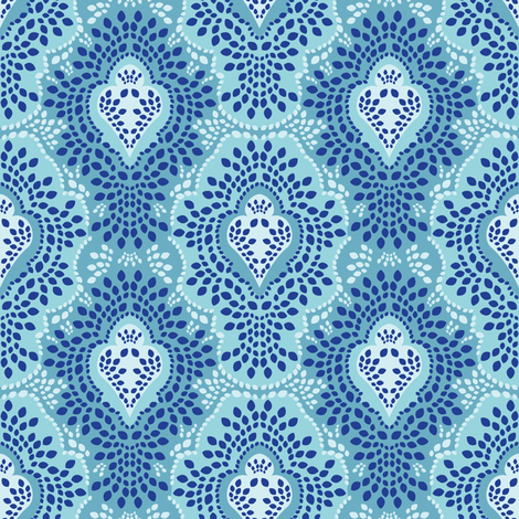 Caribbean Breeze Damask fabric by robyriker on Spoonflower - custom fabric