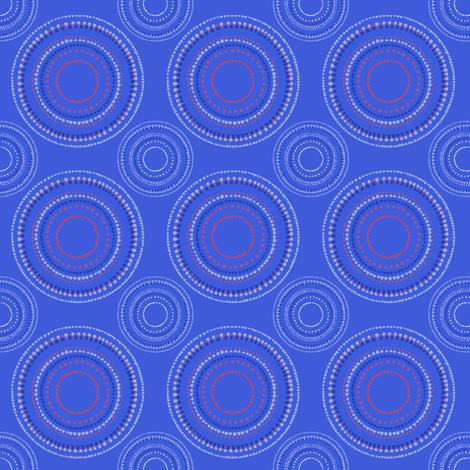 Mandala or Dancing Dervish circles on blue fabric by su_g on Spoonflower - custom fabric