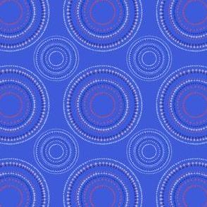 Mandala or Dancing Dervish circles on blue by Su_G_©SuSchaefer