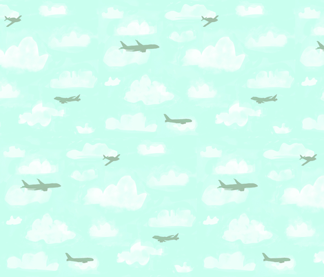 High in the sky fabric by risu_rose on Spoonflower - custom fabric