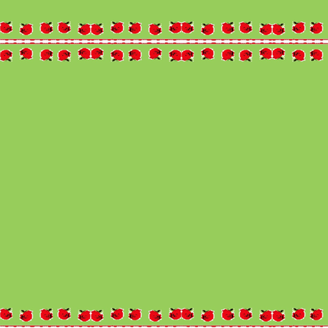 Red Roses on Green  Fabric on July 12, 2012 fabric by _vandecraats on Spoonflower - custom fabric