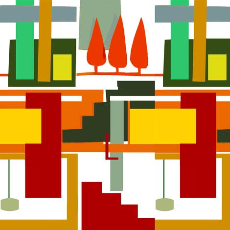 Modernist House fabric by boris_thumbkin on Spoonflower - custom fabric