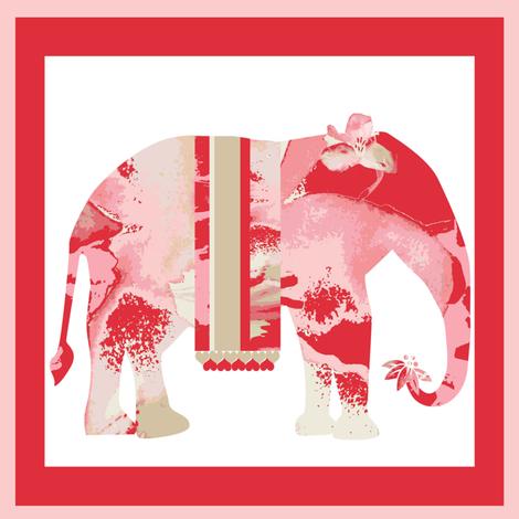 Lily Elephant fancy dress fabric by karenharveycox on Spoonflower - custom fabric