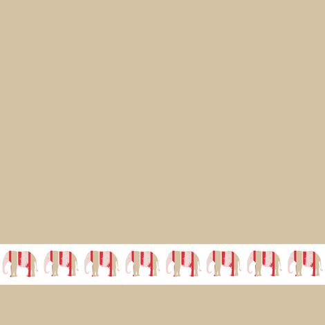Lily Elephant March, creme fabric by karenharveycox on Spoonflower - custom fabric
