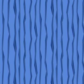Wonky Stripes - blue