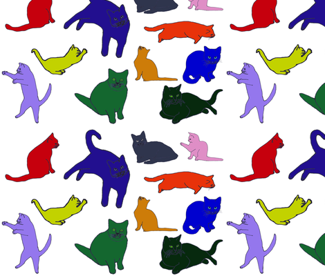 Kittykats fabric by serenity_ii on Spoonflower - custom fabric