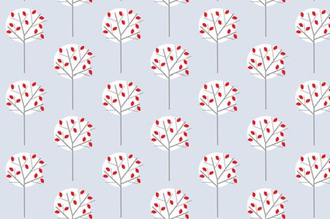 Moonlight_Tree_pale_blue fabric by louise_brainwood_designs on Spoonflower - custom fabric