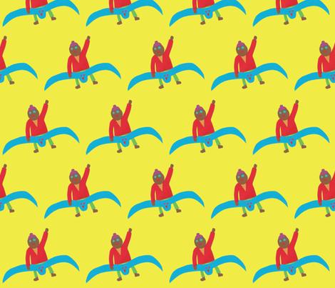 Ride That Bluebird Fella fabric by weebeastiecreations on Spoonflower - custom fabric