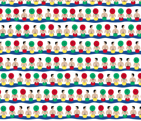 Poolside - Primary fabric by tuppencehapenny on Spoonflower - custom fabric