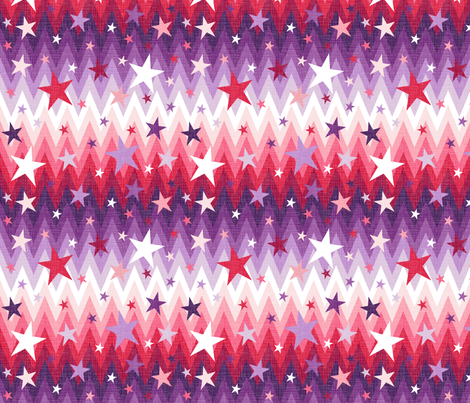 Christmas Stars Purple + Red fabric by veritymaddox on Spoonflower - custom fabric