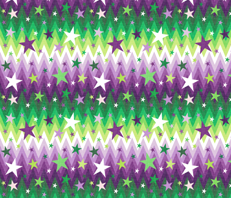 Maddox's Christmas Stars Purple + Green fabric by veritymaddox on Spoonflower - custom fabric