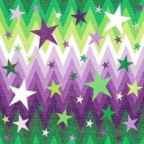 Maddox's Christmas Stars Purple + Green