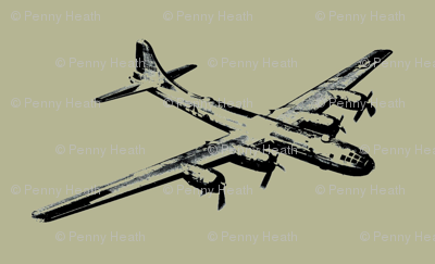 WWII Bomber in Grey