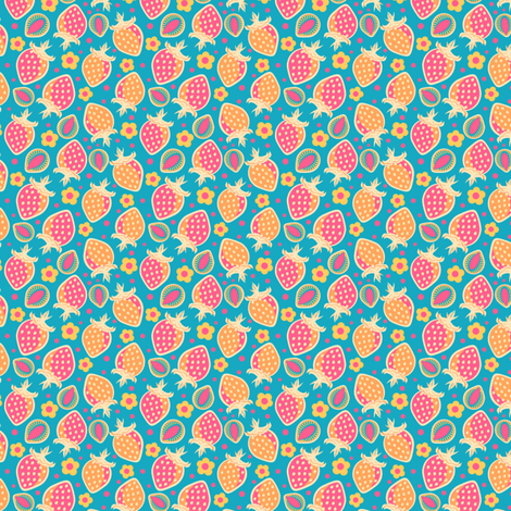 Summer Fruit Cocktail fabric by eppiepeppercorn on Spoonflower - custom fabric