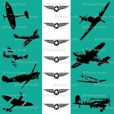 Retro Aviator Teal Stripe