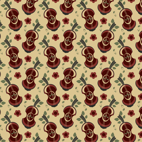 Apple Strings fabric by eppiepeppercorn on Spoonflower - custom fabric