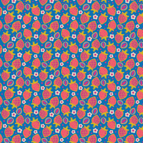 Retro Berry Blast fabric by eppiepeppercorn on Spoonflower - custom fabric