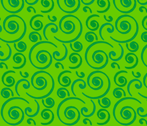 GreenSurf fabric by stickelberry on Spoonflower - custom fabric