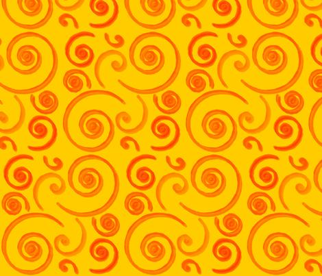 OrangeSurf fabric by stickelberry on Spoonflower - custom fabric