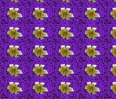 12LiliesV fabric by oceanpeg on Spoonflower - custom fabric