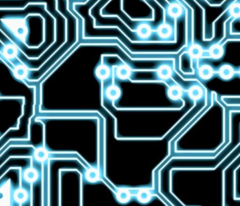 ELECTron - Blue / Black - Random fabric by bonnie_phantasm on Spoonflower - custom fabric