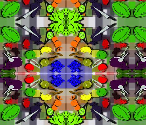 FruitiVegiColor_2copy fabric by chubichics on Spoonflower - custom fabric