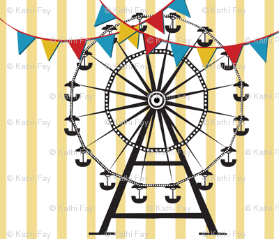 Ferris Wheel Tea Towel
